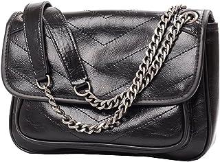 Heshe Womens Messenger Bag Shoulder Handbags Link-chain Fashion Ladies Purses