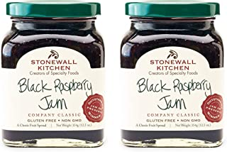 Stonewall Kitchen Black Raspberry Jam, 12.5 ounces (Pack of 2)
