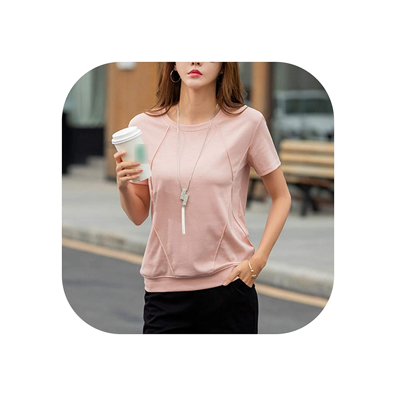 T Shirts Female Soft Cotton Women Tops Loose fit Shirt Summer Short Sleeve Undershirt Ladies