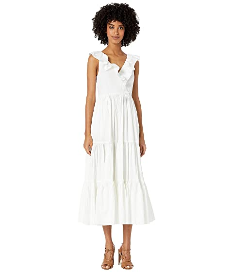 Kate Spade New York Poplin Ruffle Tiered Dress