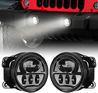 SUPAREE 4 Inch 60W Cree Led Fog Lights Len Projector for 07-18 Jeep Wrangler JK Unlimited JK, Auto Led Headlight Driving Offroad Lamp for Jeep Wrangler Dodge Chrysler Front Bumper Lights