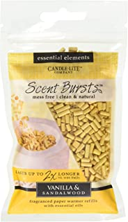 Essential Elements by Candle-Lite Company Flameless Fragrance Vanilla and Sandalwood Scent Bursts, 1 Pack, Yellow