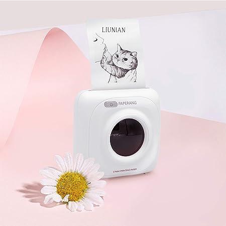 Royoo Mini Imprimante Photo Portable,Imprimante Thermique sans Fil,Imprimante Photo Imprimante Dautocollants Bluetooth pour iOS//Android