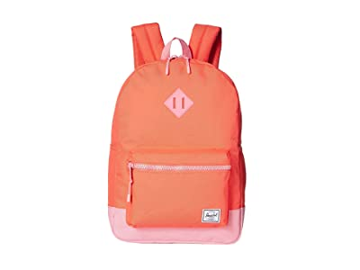 Herschel Supply Co. Kids Heritage Youth XL Backpack (Youth) (Hot Coral/Flamingo Pink) Backpack Bags
