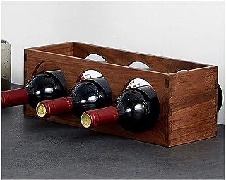 TUHFG Casier à vin pour comptoir de vin - Support de rangement de cave - Idéal pour bar, cave à vin, cave, armoire, garde-...