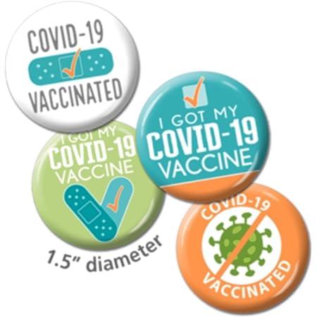 I Got my Covid Vaccine Pin Button