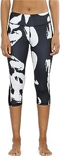 icyzone Legging Femme 3/4 Pantalon de Sport - Séchage Rapide Taille Haute avec Poche Fitness Jogging Collants