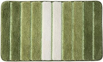 "ESUPPORT Bath Mats 19.6"" x 31.4"" Non Slip Floor Rug Carpet Machine Wash Outdoor Entrance Doormats, Green"