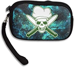 Skull Chef Green Coin Pouch Clutch Purse Wristlet Wallet Phone Card Holder Handbag