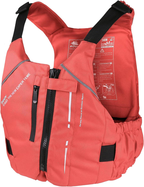 Zeraty Memphis Mall Adult Life Jacket Swim Vest PFD Buoyancy Aid New color F for