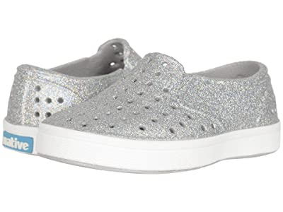 Native Kids Shoes Miles Bling (Toddler/Little Kid) (Disco Bling/Shell White) Girls Shoes