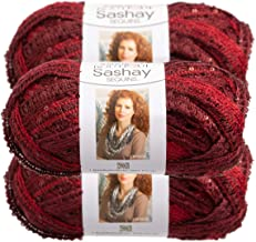 Red Heart Boutique Sashay Sequins Yarn-Cabernet