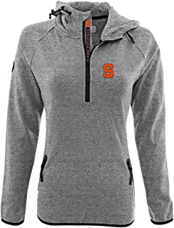 Levelwear LEY9R NCAA Syracuse Orange Women's Faint Insignia Bold Quarter Zip Mid-Layer Shirt, Medium, Heather Pebble