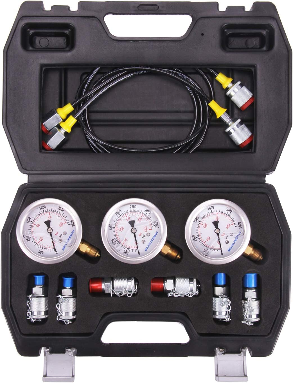 MEASUREMAN Portable Excavator Hydraulic K New color Pressure Test Coupling Sale item