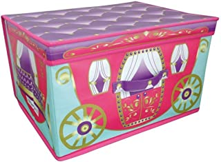 Children Foldable Princess Carriage Pop Large Storage Chest Toy Book Box Tidy
