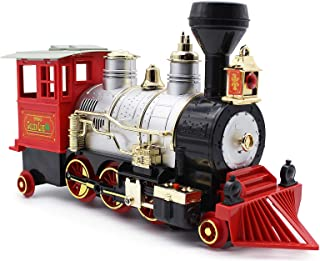 Dollox Train Toy with Steam Locomotive Train Set for Kids with Smoke, Realistic Sounds and Lights Railway Toys for Kids Ag...