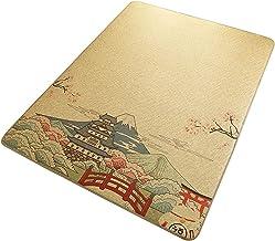 Bamboo Rug Runners for Hallways, Summer Cool Pad Sleeping Mat Carpets Non-Slip Braided Floor Mat Office Teahouse Yoga Roo...