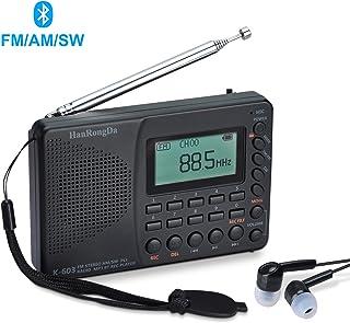 Radio FM a Onde Corte di Sopravvivenza con Torcia Allarme SOS Myfei Radio di Emergenza con Allarme Meteo NOAA Batteria di riserva Manovella e energia Solare