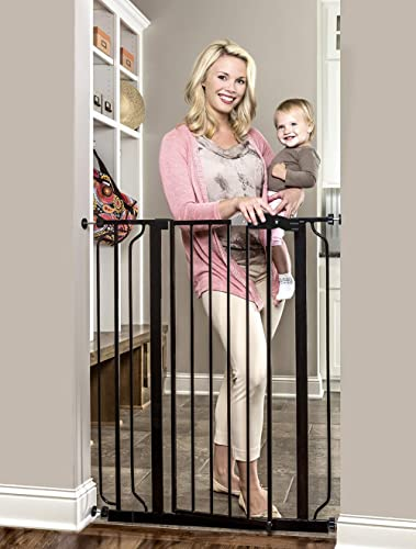 Regalo Easy Step Extra Tall Walk Thru Baby Gate, Bonus Kit, Includes 4-Inch Extension Kit, 4 Pack of Pressure Mount K...