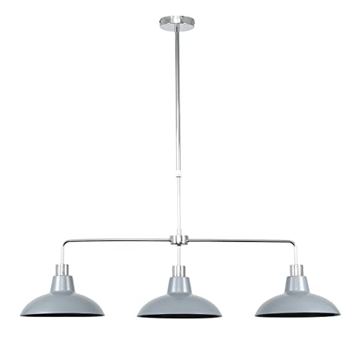 cd6735bad2f0 Modern 3 Way Polished Chrome Rise & Fall Suspended Over Table Ceiling Light  Fitting with Gloss
