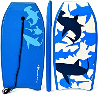 Goplus Body Board, Lightweight Bodyboard with EPS Core, XPE Deck, HDPE Slick Bottom,..