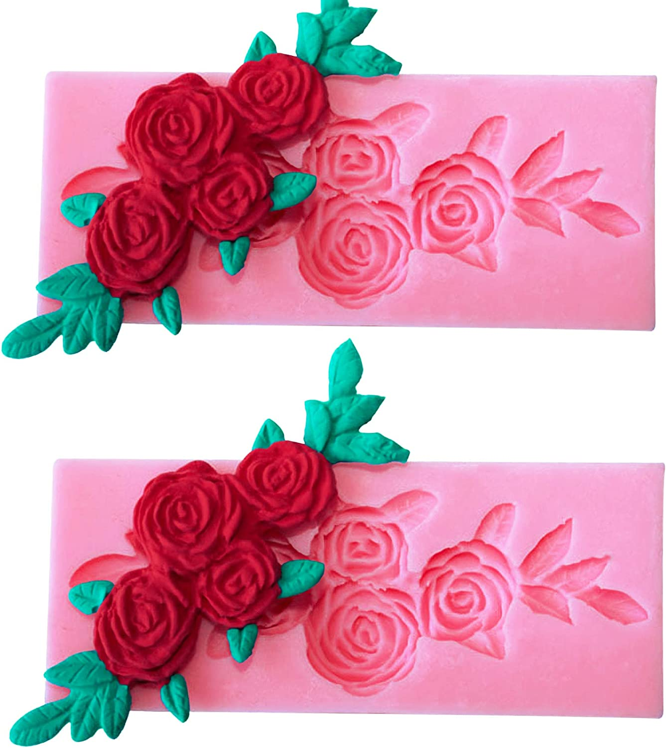 HengKe 2 Pieces Four Roses Candy Silicone Mold Limited price sale Fondant Ranking TOP17 Chocolate