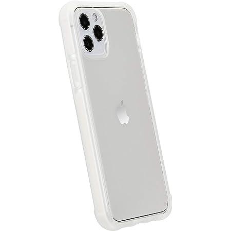Amazon Basics Coque pour iPhone 11 Pro en TPU + TPE + PC (Blanc), coque transparente protectrice pour téléphone portable, anti-rayures