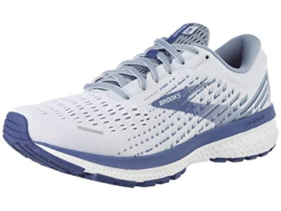 Brooks SINGLE SHOE Ghost 13 (White/Grey/Deep Cobalt) Men