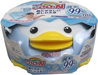グーン 肌にやさしいおしりふき 本体 (おしりふき70枚入 )純水99%使用、パラベン無配合 GOO.N