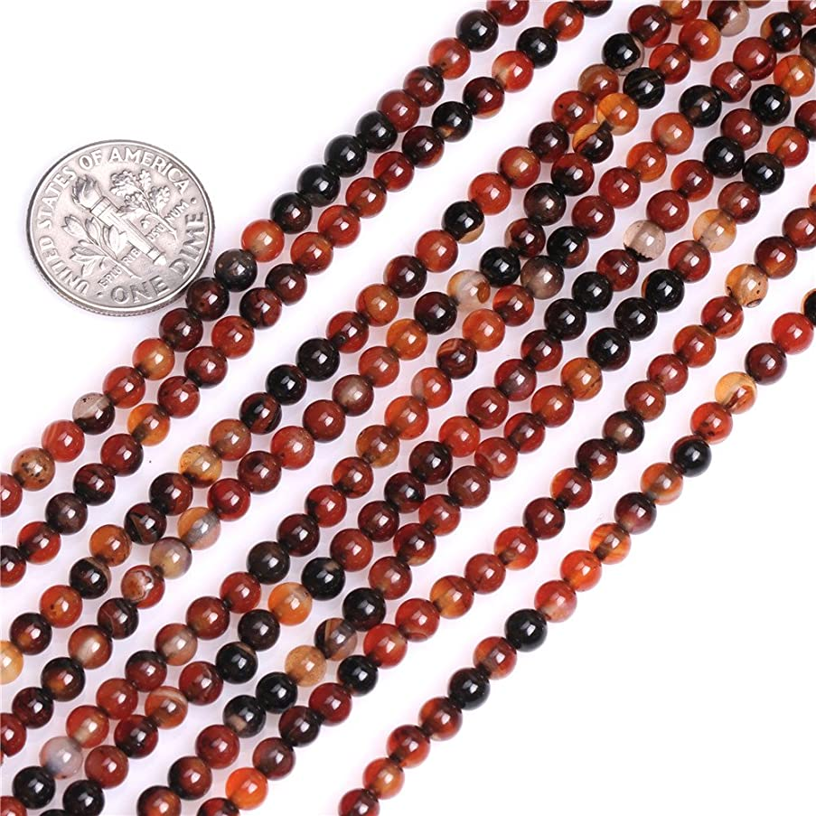 Dream Lace Agate Beads for Jewelry Making Natural Gemstone Semi Precious 4mm Round 15
