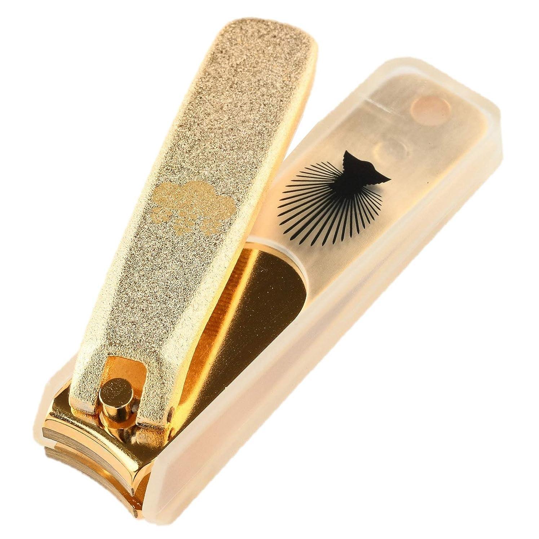 キャプションテストレタッチNIKKEN ニッケン刃物 関伝の美 武将爪切り 豊臣秀吉モデル ゴールド NL-18H