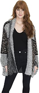 Multi Color Confetti Designer Sweater Wrap Cardigan with Pockets, One Size