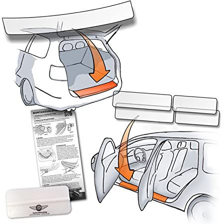 Set Passform Lackschutzfolie Passend Für Bmw X3 Iii Typ G01 Ab Bj 2017 3 Generation Auch M Modelle Im Set Für Ladekante Und Alle Einstiegsleisten Türeinstiege Transparent 150µm Auto