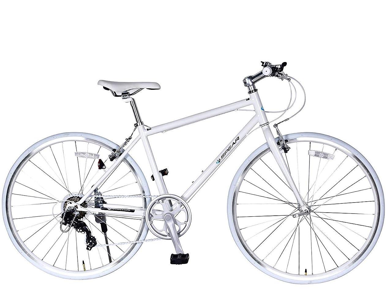 産地価値のない罰するSPEAR (スペア) クロスバイク 700c シマノ製 7段 変速 SPC7007 ディレーラー Tourney(ターニー) 1年保証付 適用身長160㎝以上