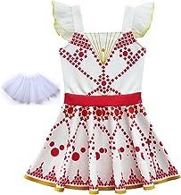 Bambina Principessa Vestito Carnevale Tulle Diadema Cosplay Compleanno Abito Ragazze Belle Disney Zarupeng Vestitini Eleganti per Ragazze-Gonna da Sposa Ragazza