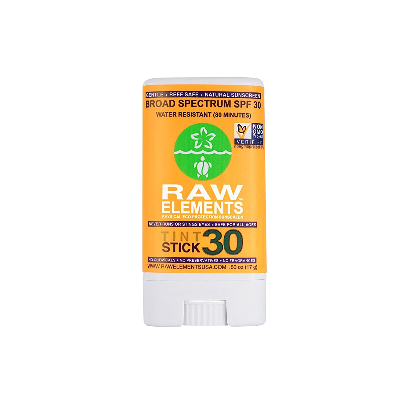 キャメルピーク灌漑海外直送品Raw Elements Sunscreen Tint Spf, 0.6 Oz
