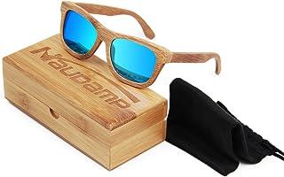 Naudamp Occhiali da sole in bambù polarizzati Uomo Donna Occhiali in legno per sport acquatici e attività all'aperto