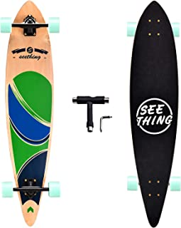 seething 42 Inch Longboard Skateboard Complete Cruiser Pintail,The Original Artisan Maple..
