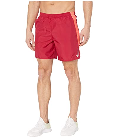 Nike Challenger Shorts 7 BF (Noble Red/Laser Crimson/Reflective Silver) Men