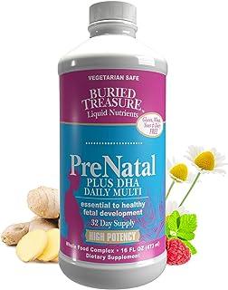 Buried Treasure Prenatal Plus DHA Complete High Potency Liquid Supplement - Non-GMO, Plant Based, High Quality, Vegetarian...