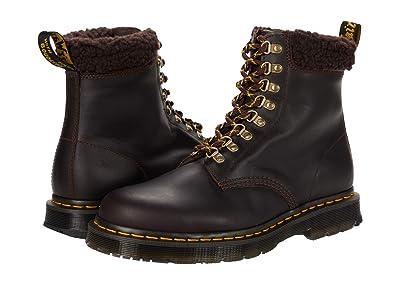 Dr. Martens 1460 Collar (Cocoa/Dark Brown Snowplow Waterproof/Borg Fleece) Shoes