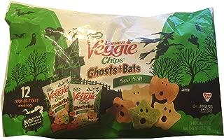 Garden Veggie Chips - Halloween Treat Bags - Shapes of Ghosts & Bats - Sea Salt Flavored 12 - .5 Oz Bags