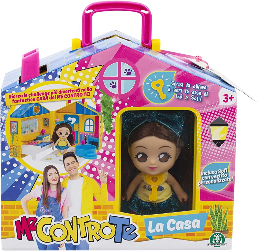 Giochi preziosi, la casa con mini doll 12 cm, multicolore,me contro te MEC31000