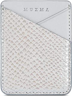 3M Adhesive Purse,Premium Snake Skin Pattern Card Slots Wallet Sleeve Pocket Pouch Stick on Phone/Tablets