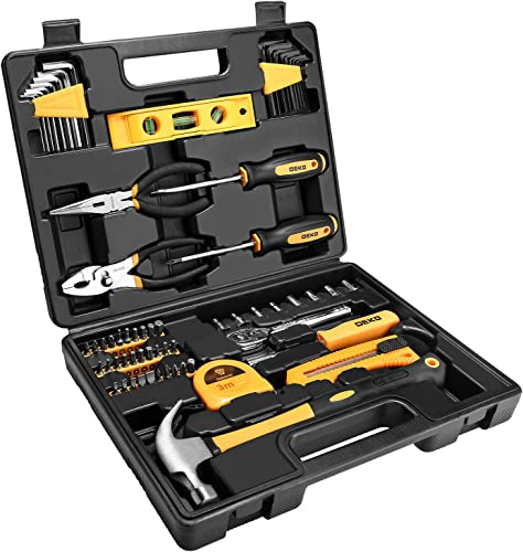 2021 DEKOPRO 65 Pieces Tool Set General Household Hand outlet online sale Tool Kit with Storage Case Plastic 2021 ToolBox outlet sale