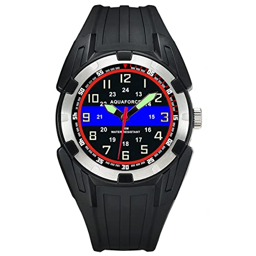 7f7eec46e Police Officer Blue Line ABS Aquaforce Mens Watch - 50m Water Resistant