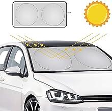 URAQT Parasol Delantero Coche, Coche Sol Sombra, Parasol de Parabrisas Delantero,Parasol Protector Solar para Coche Parasoles Cubierta de Parabrisas Plegable Sombrilla Resistir a Los Rayos UV