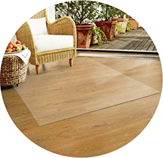 PVC Transparent Waterproof Pad, Non-slip Wooden Floor Protection Mat, 60 Sizes AGFXN (Color : 3mm, Size : 80x130CM)