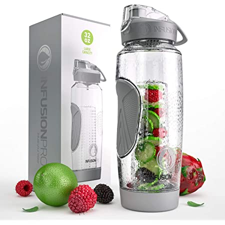 Infusion Technology Reusable Water Bottle BPA EA free Tritan Active Infusion Water Bottle Citrus Zinger Sip by Zing Anything 28 oz. Hydration Sage Citrus Fruit Infusion Flip Up Straw Cap