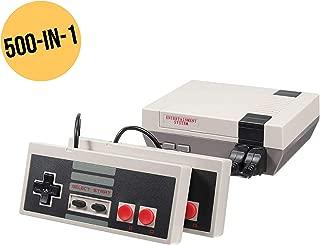 CHASDI Retro Built-in 500 in 1 Childhood AV Classic Mini Game Dual Control Classic Video Game Console